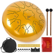 More details for steel tongue drum 12 inch 13 notes c key percussion instrument for beginners