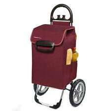 XXL Einkaufstrolley KILEY rot 78L >50kg - Extragroße leise abnehmbare GummiRäder