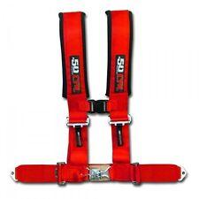 "50 Caliber Racing Seat Belt Harness Red 2"" 4 Point Polaris Ranger RZR Trail UTV"