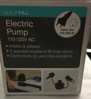 Electric Air Pump Intex Portable Quick-Fill  for Air Mattresses 120v Ac Powered