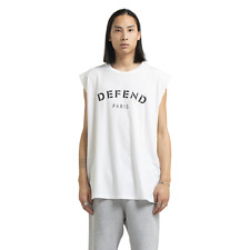 New listing Defend Paris Men's T-Shirt Tank Top Front Print Off White Street Style Clothing