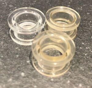 14mm- Screw Back Ear Tunnel Flesh Plug Acrylic Taper Flare Earring Clear /Flesh