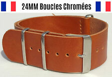 ★ 24MM ★ Bracelet Montre Watch Band Strap Nylon Nato Otan Militaire Army Bond