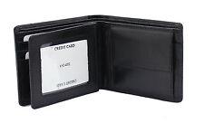 WOODBRIDGE RFID BLOCKING Mens Leather Wallet Purse With Coin Pocket 4002-BLACK