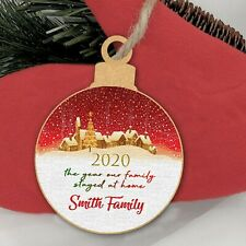 Christmas Year Of The Family Lockdown Personalised Tree Decoration Bauble Gift