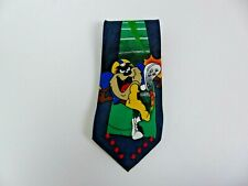 VTG 1995 Looney Tunes Mania Men's Tie Necktie Tasmanian Devil Taz Football