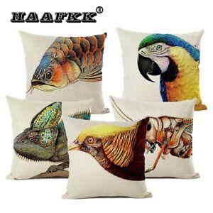 Animal Cushion Cover Pillow Fashion Home Art Decoration Pillow Parrot Lizard Car