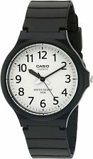 Casio Men's Quartz Easy To Read White Dial Black Resin 43.5mm Watch MW240-7BV