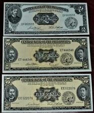 3 uncirculated 1949 banknotes of the PHILIPPINES