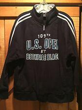 Men's 109th US Open Bethpage Black Full Zip Sweatshirt Golf Sz Large