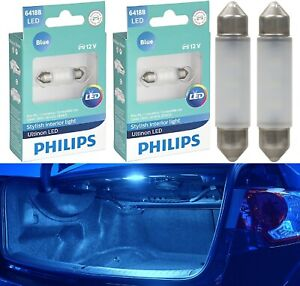 Philips Ultinon LED Light 6418 Blue 10000K Two Bulbs Trunk Cargo Replace Upgrade