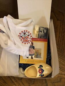 American Girl Kirsten Baking Outfit NIB NRFB Dress Apron Clogs Ribbon RETIRED