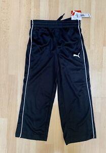 PUMA Boy's Athletic Training Pants Black Size 5 NWT