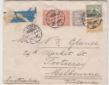 Stamps Netherland Indies various issues on cover sent to Australia by airmail