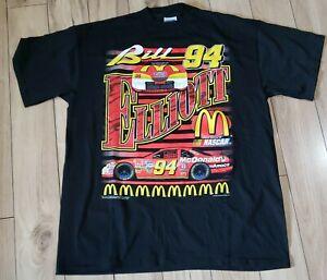 NOS Bill Elliott Mcdonalds Nascar Shirt All Over Print 90s XL 94 Ford tultex tag