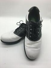 FOOTJOY Contour Series 54217 Black & White Saddle Golf Shoes Mens Size 10.5 M