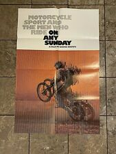 "On Any Sunday One Sheet int""l '71 Steve Mcqueen Motorcycles"