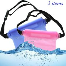 Waterproof Waist Bag Pouch Pack for Kayaking/Swimming/Beach/Hiking Pink Blue