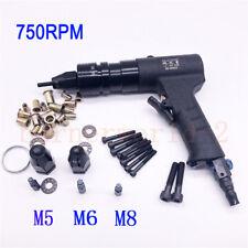 M5/M6/M8 Pneumatic Riveters Pneumatic Pull Setter Air Rivets Nut tool 750RPM