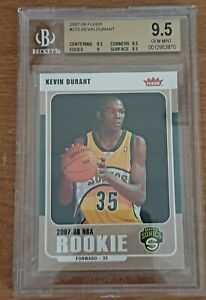 Kevin Durant Fleer Rookie Card #212 BGS 9.5 GOLD LABEL