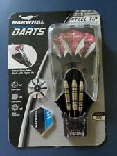 New listing NARWHAL Tournament DARTS  - Steel Tip 22g with case EXTRA Shafts Flights - New!!