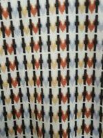 Vintage 1960s BEELINE FASHIONS Women's Knit 3/4 Sleeve Multi Color Blouse L