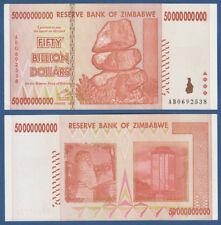 SIMBABWE / ZIMBABWE 50 Billion Dollars 2008  aUNC P.87
