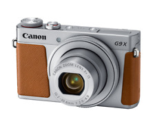Canon PowerShot G9 X Mark II Digital Compact Camera - Silver Brown Leather - UK