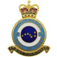 Queens Crown Royal Air Force 7 Squadron Unit RAF PLAQUE Badge - FC76