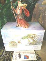 Hap Henriksen HOWLAND THE WISE, LAND OF LEGEND Wizard Sculpture Ltd.Pdtn,NEW MIB