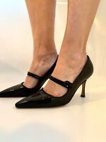 Manolo Blahnik Black Patent Leather Stiletto