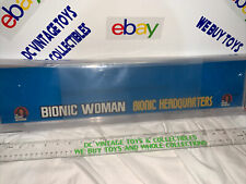 Six Million Dollar Man The Bionic Woman Kenner Shelf Talker AFA 80 Store Display