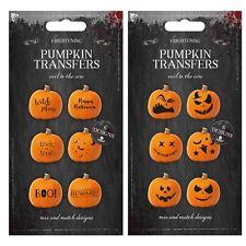 Las transferencias de calabaza de Halloween Decoración de Mesa enfrenta aterrador fiesta dulce o travesura