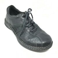 Men's Columbia James Oxfords Shoes Size 9 M Black Leather Casual Lace Up H11
