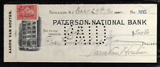 R140 - 1900 PATERSON NATIONAL BANK - PATERSONNEW JERSEY