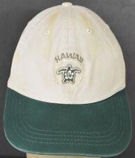 Beige Hawaii Sea Turtle Flower Embroidered Baseball Hat Cap Adjustable Strap