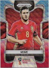 2018 Panini FIFA World Cup Blue Red Wave Prizm (204) KOKE Spain