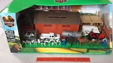 New Ray Dairy Farm DELUXE Machine Shed Cattle Barn Transport Tractor Windmill +