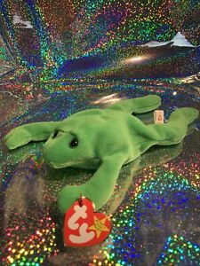 TY BEANIE BABIES P.V.C. LEGS THE FROG 1993 VERY RARE COLLECTORS ITEM
