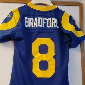 Sam Bradford RAMS AUTHENTIC REEBOK THROWBACK SEWN STITCHED JERSEY YOUTH SMALL