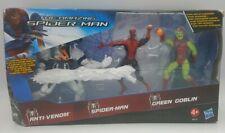 "Marvel Universe Spider-Man ANTI-VENOM, SPIDEY, & GREEN GOBLIN 3.75"" Figure RARE"