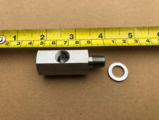"Land Rover Series 1/8"" Oil Pressure Gauge Capillary Hose Block Adapter T Piece 8"