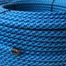 Textilkabel, Leitung Faser umflochten, rund, Abaca Swirl Aqua, 3x0,75 H03VV