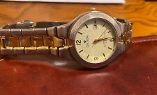 Men's 38mm Croton Watch, Two Tone with Date, WR 3 ATM