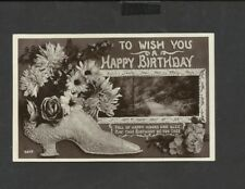 Vintage Greeting Postcard to Wish you  Happy Birthday posted 1911