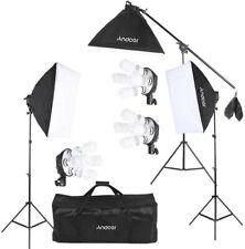 2 * Soporte Luz Andoer/® Kit de Fotograf/ía LED Iluminaci/ón Estudio con 2 * LED Luz L/ámpara de 30W 1 * Bolsa de Transporte 2 * Caja de luz