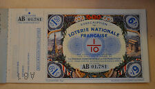 Vintage French National Lottery Ticket w Perf Stub Never Sold Unused MINT