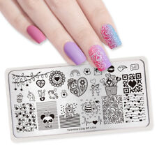 Born Pretty Nail Stamping Plates Rose Flower Code Image Valentine's Day BP-L004