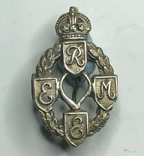 WW2 REME Royal Electrical & Mechanical engineers Sweetheart Brooch white Metal