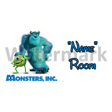 Disney Monsters Inc Personalised Bedroom Door Sign - Any Text (1)